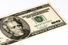 Banconota di valuta di U.S.A. Immagine Stock