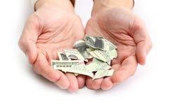 Banconota in dollari Fotografia Stock Libera da Diritti