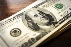 banconota in dollari 100 Immagine Stock Libera da Diritti