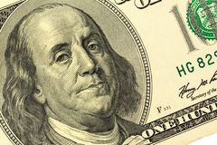 Banconota in dollari, Benjamin Franklin Fotografia Stock Libera da Diritti