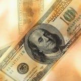 Banconota in dollari bruciante Immagine Stock Libera da Diritti