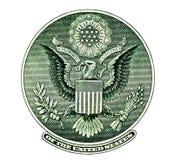 Banconota in dollari degli Stati Uniti uno della guarnizione di Eargle Fotografie Stock Libere da Diritti