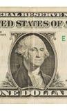Banconota in dollari degli Stati Uniti uno, fine su Immagini Stock Libere da Diritti