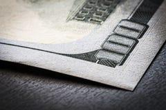 Banconota in dollari del frammento 100 Fotografie Stock Libere da Diritti