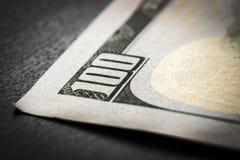 Banconota in dollari del frammento 100 Fotografia Stock Libera da Diritti