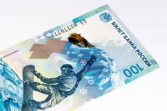 Banconota europea di currancy, rublo russa Immagini Stock