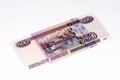 Banconota europea di currancy, rublo russa Fotografia Stock