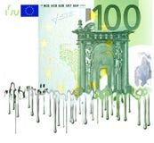 Banconota europea di fusione Fotografia Stock