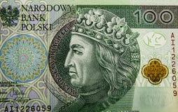 Banconota 100 PLN Fotografie Stock Libere da Diritti