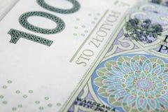 Banconota 100 PLN Fotografia Stock Libera da Diritti