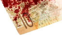 Banconota scozzese, 10 libbre, isolate su bianco, sanguinoso Fotografie Stock Libere da Diritti