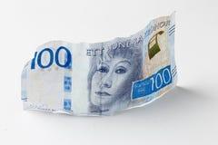 Banconota svedese 100 corone svedesi Fotografia Stock