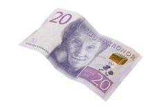Banconota svedese 20 corone svedesi Fotografie Stock Libere da Diritti