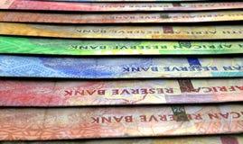 Banconote allineate del primo piano Fotografia Stock Libera da Diritti