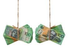 Banconote australiane di valuta $100 Fotografie Stock Libere da Diritti