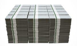 Banconote in bianco generiche del mucchio Immagine Stock