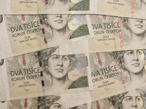 2000 banconote ceche della corona Immagine Stock