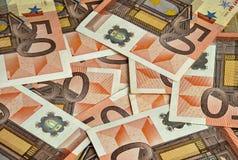 Banconote dall'euro cinquanta Immagini Stock