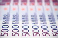500 banconote degli euro Fotografie Stock