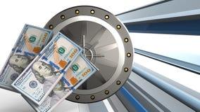 banconote dei soldi 3d Immagine Stock