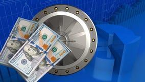banconote dei soldi 3d Fotografia Stock Libera da Diritti