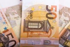 Banconote del cirillico 50 EUR Fotografia Stock Libera da Diritti