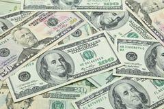Banconote del dollaro americano Immagini Stock Libere da Diritti