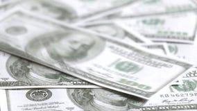 Banconote del dollaro americano video d archivio