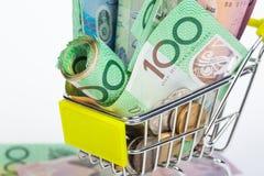 Banconote del dollaro australiano Fotografie Stock Libere da Diritti