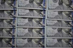 100 banconote del dollaro degli S.U.A. Fotografia Stock
