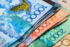 Banconote del Kazakistan Immagine Stock