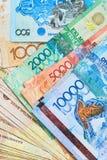 Banconote del Kazakistan Fotografie Stock