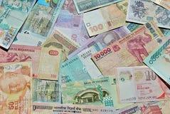 Banconote del mondo Fotografia Stock