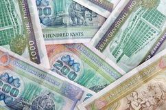Banconote del Myanmar Fotografia Stock