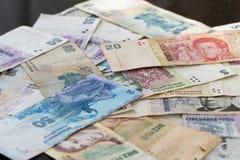Banconote dell'America latina Fotografia Stock