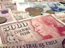 Banconote della banca centrale del Cile Fotografia Stock