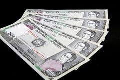 Banconote della Bolivia Fotografie Stock