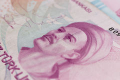 Banconote della Lira turca Fotografia Stock