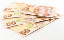 Banconote della Lira turca Fotografie Stock