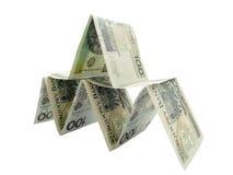 Banconote della piramide Fotografia Stock Libera da Diritti