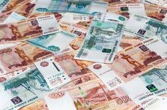 Banconote della rublo Immagini Stock