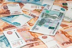 Banconote della rublo Fotografia Stock Libera da Diritti