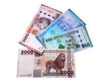 Banconote della Tanzania. Fotografia Stock