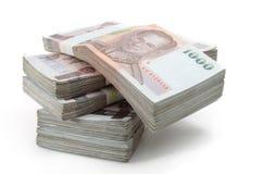 Banconote di baht tailandese Fotografie Stock