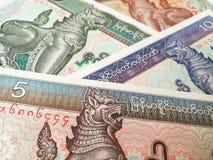 Banconote di kyat del Myanmar Immagine Stock Libera da Diritti