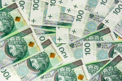 100 banconote di PLN (zloty polacca) Immagine Stock