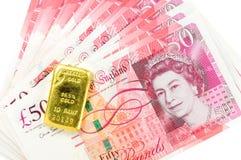 50 banconote di sterlina Fotografia Stock