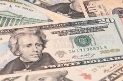 Banconote di U.S.A. Fotografia Stock Libera da Diritti