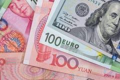 banconote di valuta estera come fondo Fotografie Stock Libere da Diritti