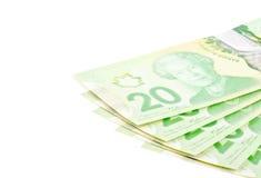 Banconote in dollari #2 del canadese venti Fotografia Stock Libera da Diritti